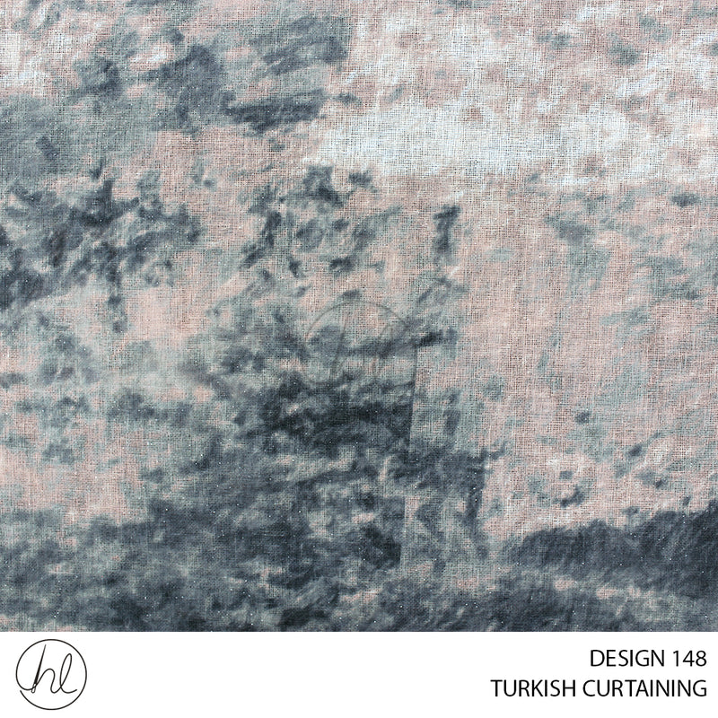 TURKISH CURTAINING (DESIGN 148) (280CM) (PER M) CHARCOAL