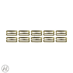 LINGERIE ACCESSORIES RINGS (10 P/PACK) (GOLD) (18MM)