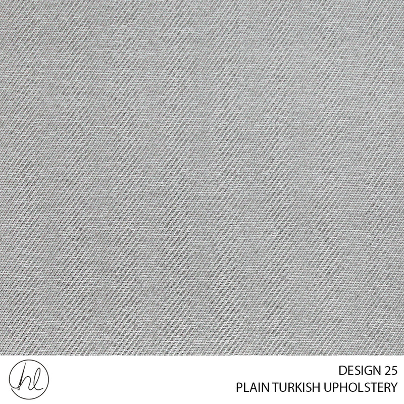 PLAIN TURKISH UPHOLSTERY (DESIGN 25) (140CM)(PER M) LIGHT GREY
