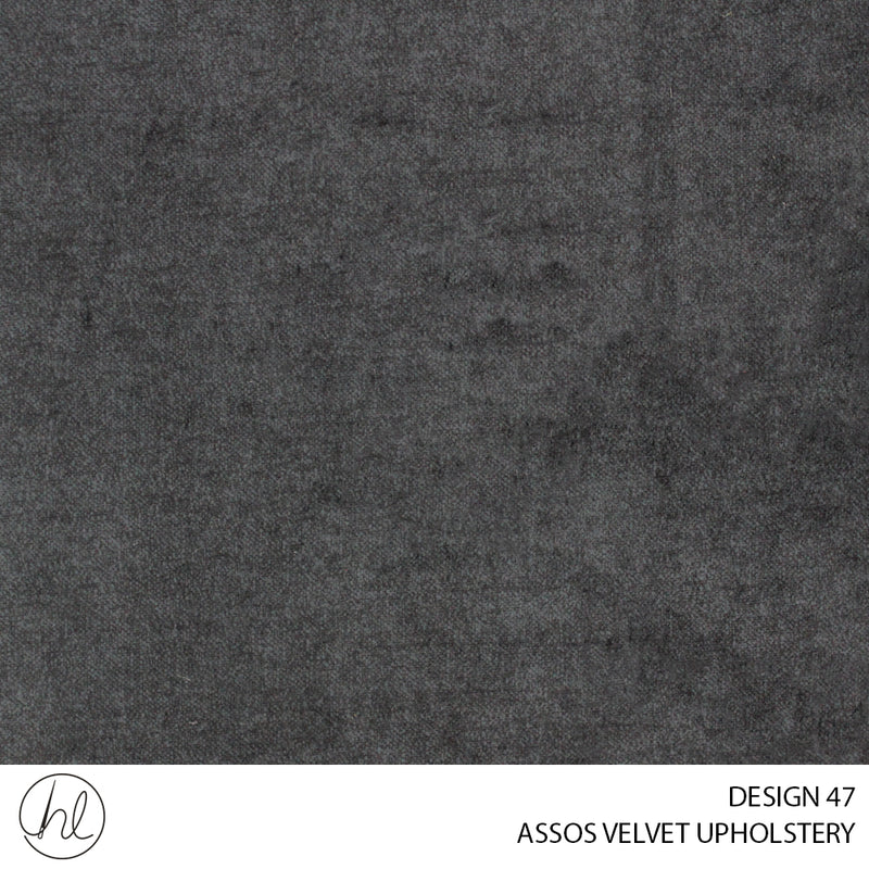 ASOSS VELVET UPHOLSTERY (DESIGN 47) (140CM WIDE)(PER M) GREY 1010