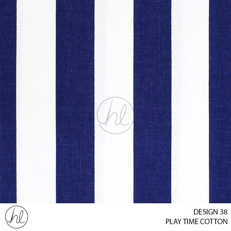 PLAYTME COTTON (DESIGN 38) (150CM) (PER M) NAVY