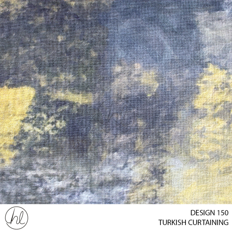TURKISH CURTAINING (DESIGN 150) (280CM) (PER M) MUSTARD