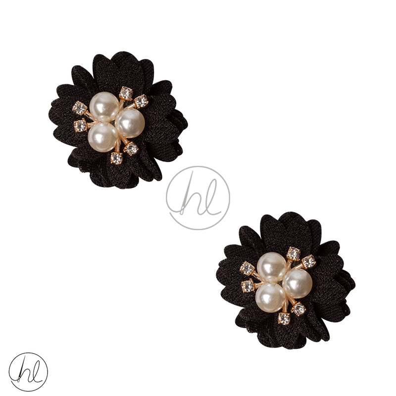 FANCY FLOWER 2 PER PACK 3DF18 BLACK