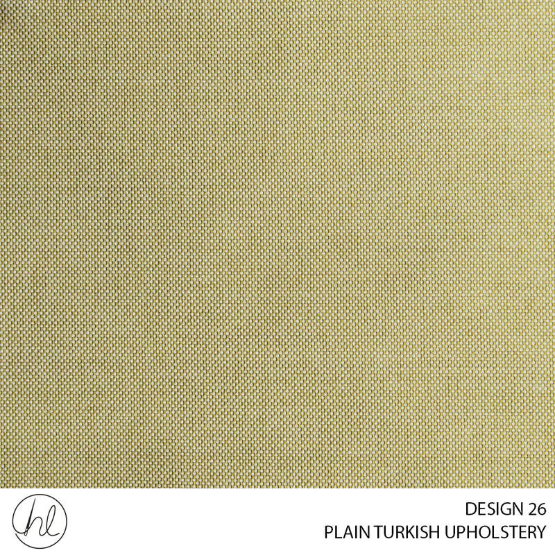 PLAIN TURKISH UPHOLSTERY (DESIGN 26) (140CM)(PER M) LIGHT GOLD