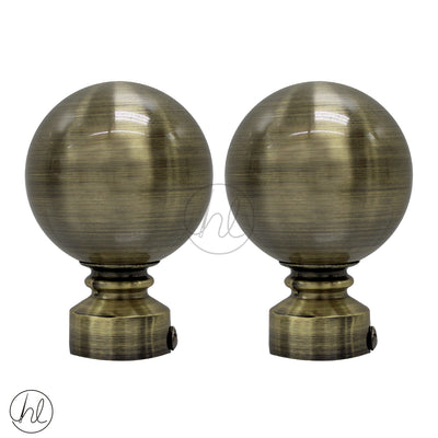 FINIAL BALL METAL (2 PER PACK) (25MM) (BRASS)