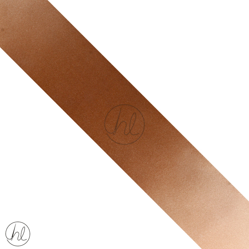SATIN RIBBON ROLL LIGHT BROWN (50MM)