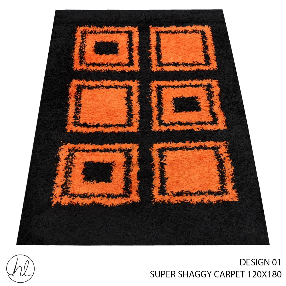 SUPER SHAGGY CARPET (120X180) (DESIGN 01)