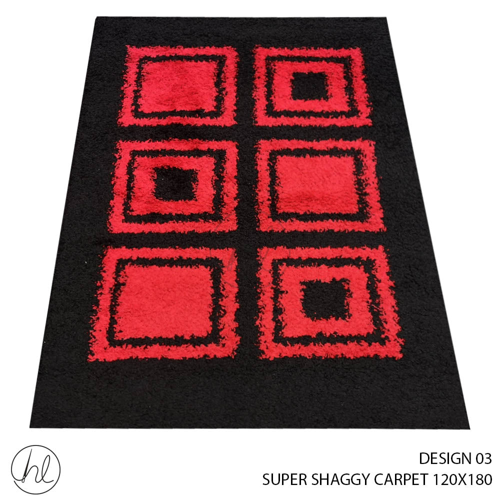 CARPET SUPER SHAGGY (120X180) (DESIGN 03)