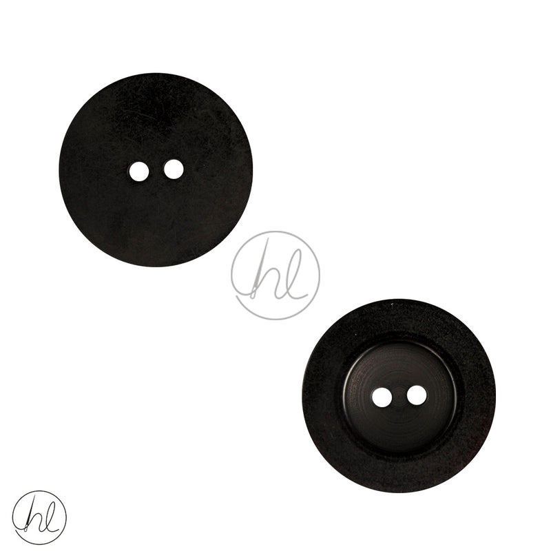 PLAIN BUTTONS LARGE BLACK