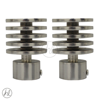 FINIAL LUMINO (2 PER PACK) (25MM) (STAINLESS STEEL)