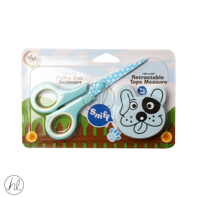 KIDDIES SCISSOR AND TAPE 118 SP068 DOG
