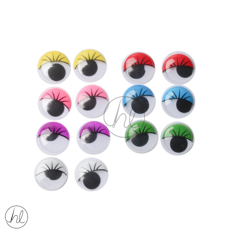 PASTE ON EYES WITH LASHES (20 PER PACK)  M368