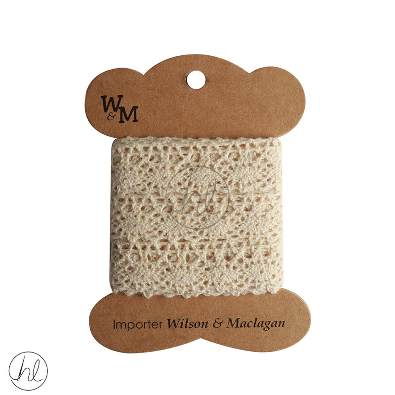 TORCHON LACE WITH EDGING BEIGE CB1360 (20MM)