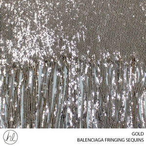 BALENCIAGA FRINGING FABRIC ( GOLD ) ( 112CM)