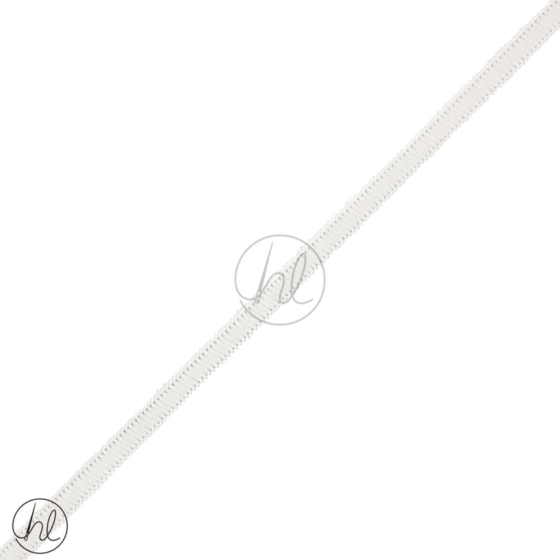 5MM FLAT ELASTIC WHITE (PER M)