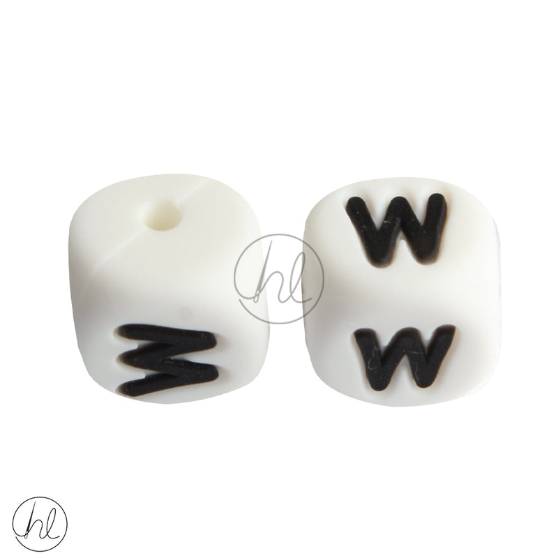 SILICONE BEAD LETTERS 2 PER PACK W 882