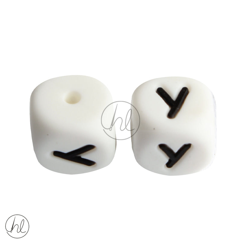 SILICONE BEAD LETTERS 2 PER PACK Y 882