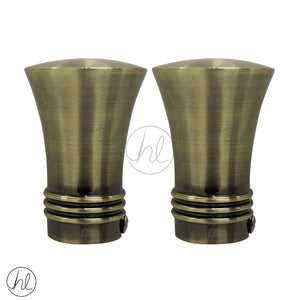 FINIAL HAT (2 PER PACK) (25MM) (GOLD)