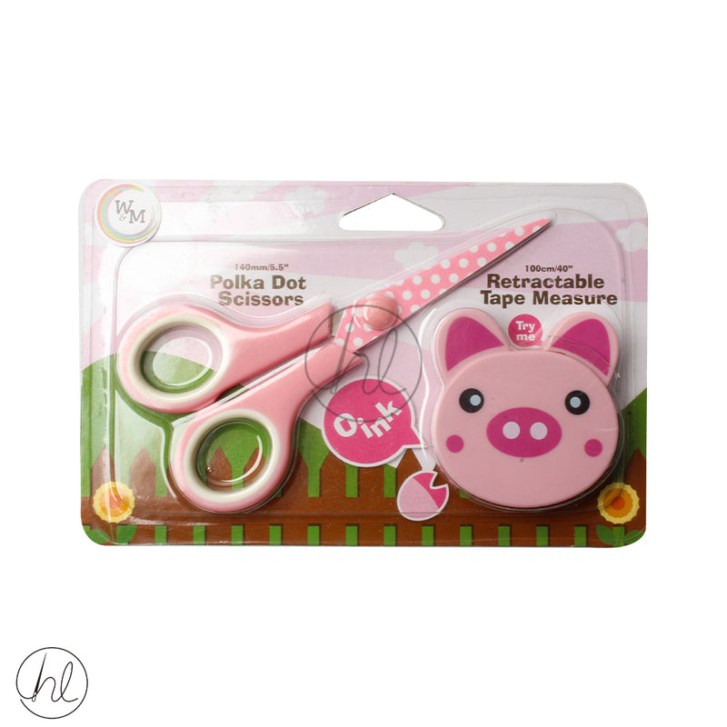 KIDDIES SCISSOR AND TAPE 118 SP068 PIG
