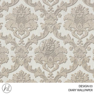 DIARY WALLPAPER (DESIGN 03) (630540) (106CM X 15.6M) (PER ROLL)