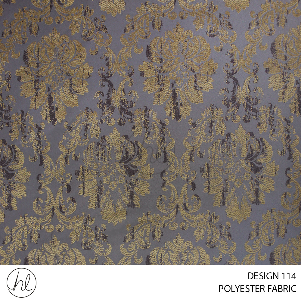 POLYESTER FABRIC (DESIGN 114) (280CM) (PER M) GOLD