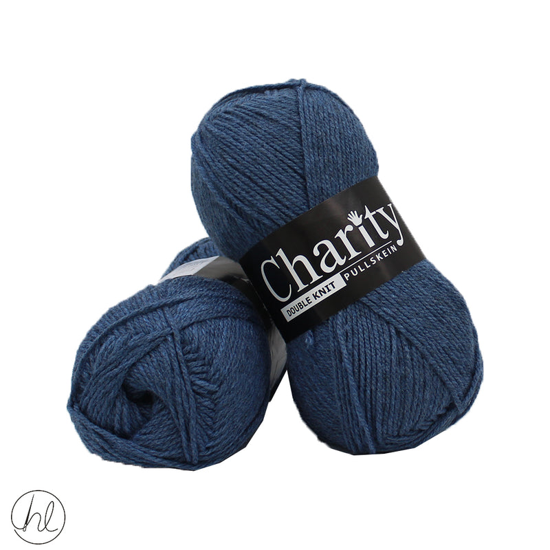 CHARITY PULLSKEIN DOUBLE KNIT 100G DENIM BLUE