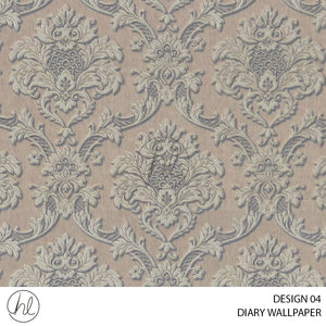 DIARY WALLPAPER (DESIGN 04) (630502) (106CM X 15.6M) (PER ROLL)