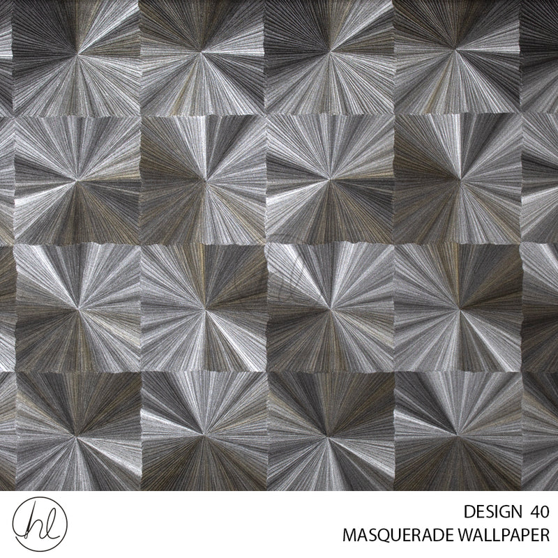 MASQUERADE WALLPAPER (DESIGN 40)(WE017A)(1.06X15M) (PER ROLL) KALEIDOSCOPE