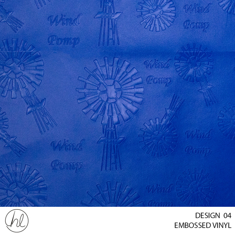 WINDPOMP EMBOSSED VINYL (DESIGN 04) (140CM)(PER M) ROYAL
