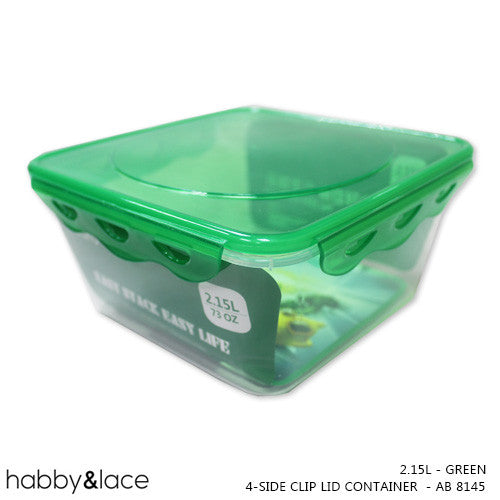 4-sided-clip-lid-container-2-15l-green-ab-8145