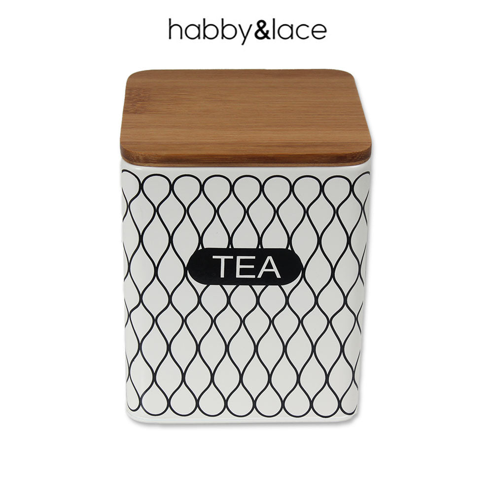 TEA TIN SQUARE CREAM