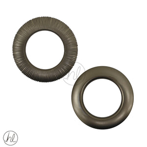 DUO EYELETS RINGS (44MM) BRONZE