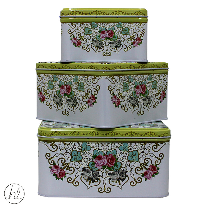 BISCUIT TINS SQUARE ABY-1196