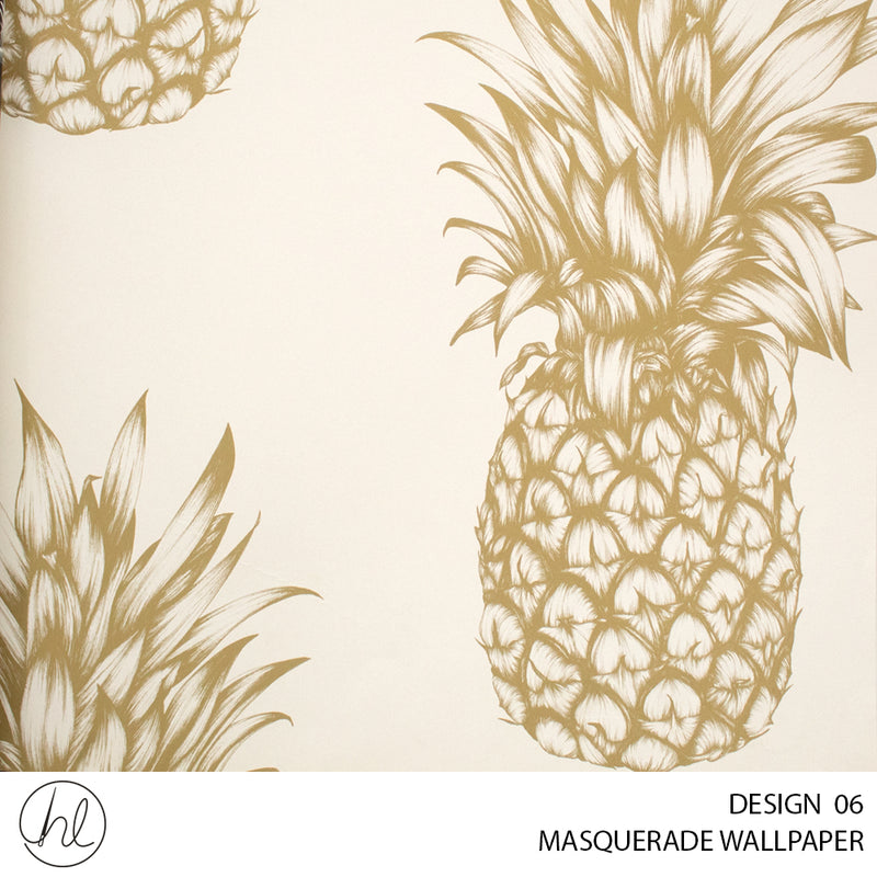MASQUERADE WALLPAPER (DESIGN 06)(WA004B)(0.53X10.05M) (PER ROLL) COPACABANA