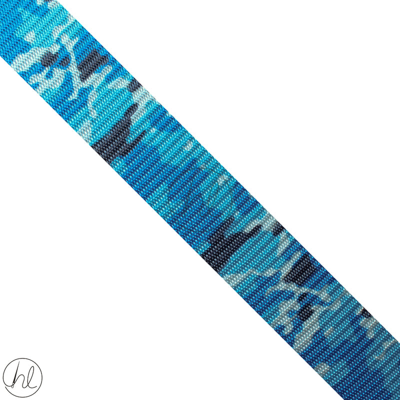 CAMO WEBBING BLUE (37MM)