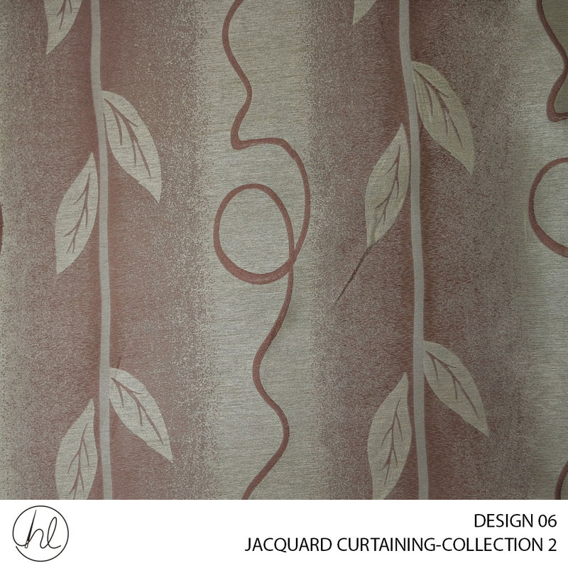 JACQUARD CURTAINING COLLECTION TWO (DESIGN 06) (140CM) (PER M) (BROWN)