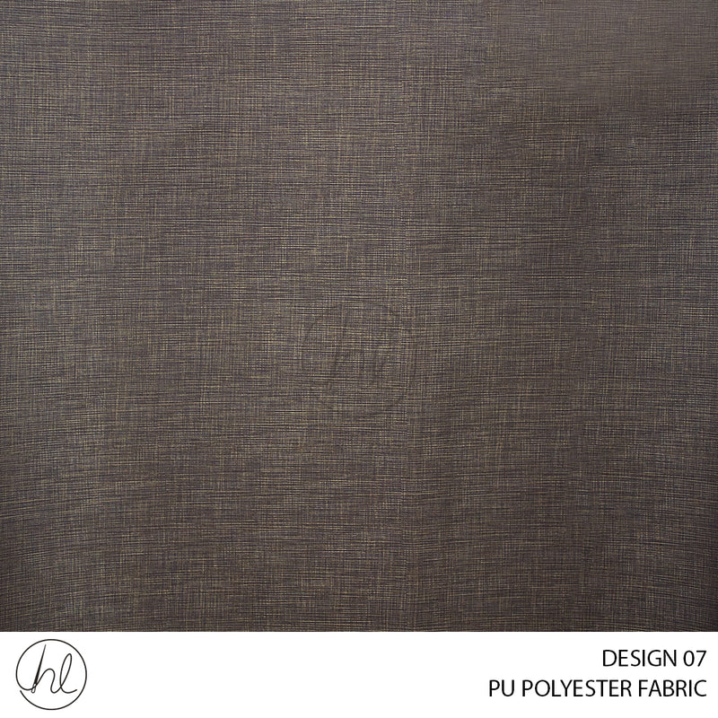 PU POLYESTER FABRIC (DESIGN 07)(140CM)(PER M) BROWN 37