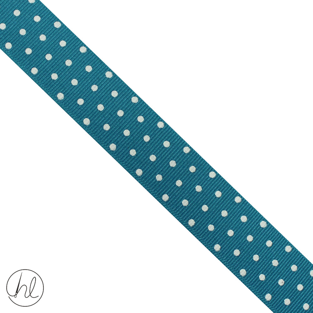 23MM PETERSHAM POLKA DOT RIBBON (P/METRE) DESIGN 7 (PSDOT-23)
