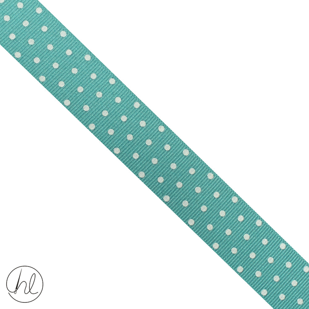 23MM PETERSHAM POLKA DOT RIBBON (P/METRE) DESIGN 14 (PSDOT-23)