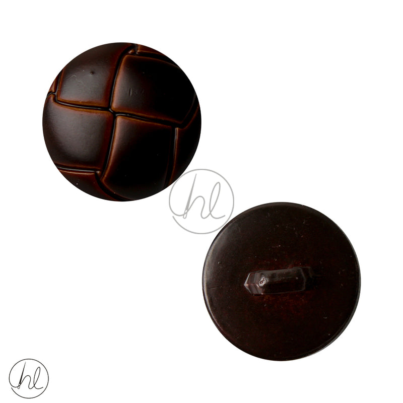 FANCY BUTTON 045-2538  DARK BROWN