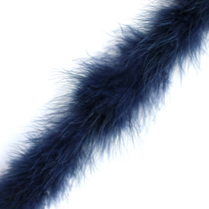 ASSORTED MARIBOU FEATHERS (P/METRE) NAVY