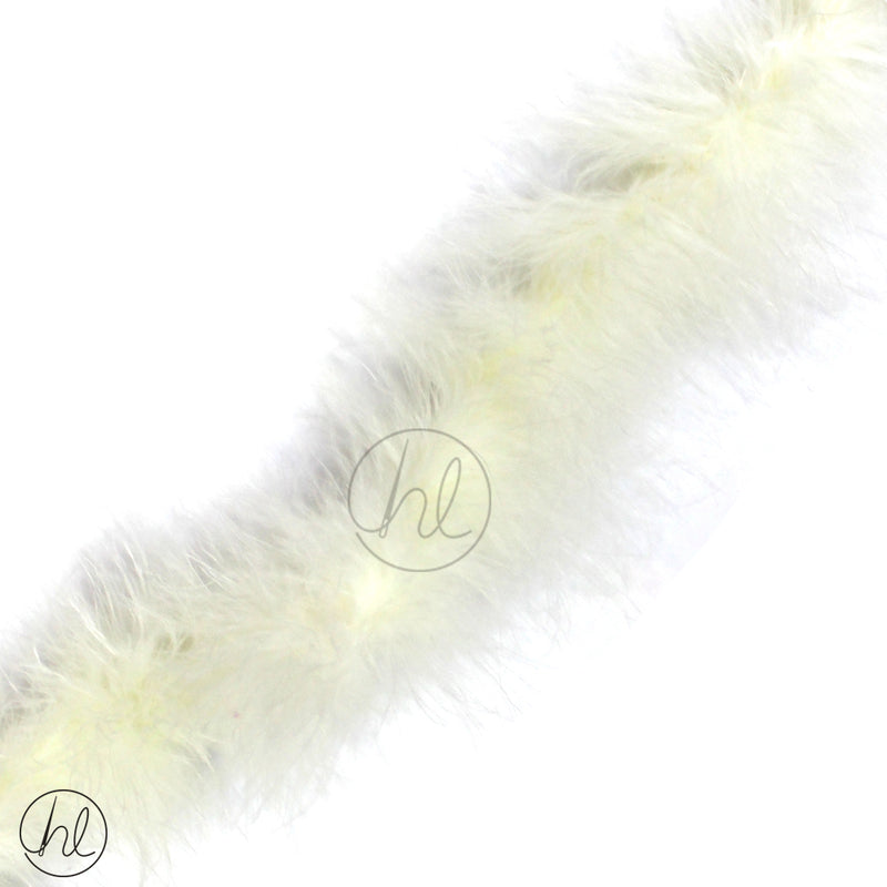 ASSORTED MARIBOU FEATHERS (P/METRE) WHITE