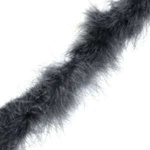ASSORTED MARIBOU FEATHERS (P/METRE) GREY
