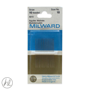 MILWARD STRAW NEEDLES (SIZE 10)
