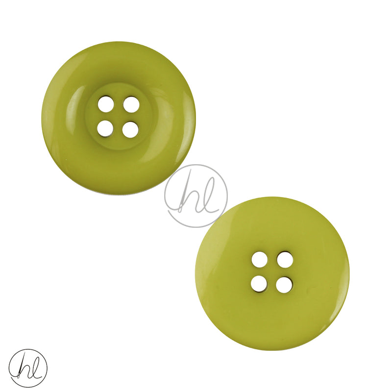 PLAIN SML BUTTON LIME 25MM