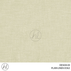 LINEN VOILE (DESIGN 09) (280CM) (PER M) RICH CREAM