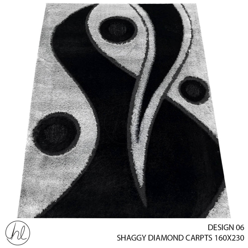 SHAGGY DIAMOND CARPET (160X230) (DESIGN 06)