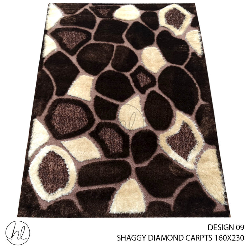SHAGGY DIAMOND CARPET (160X230) (DESIGN 09)