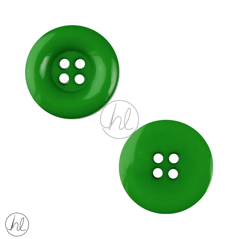 PLAIN SML BUTTON GREEN 25MM