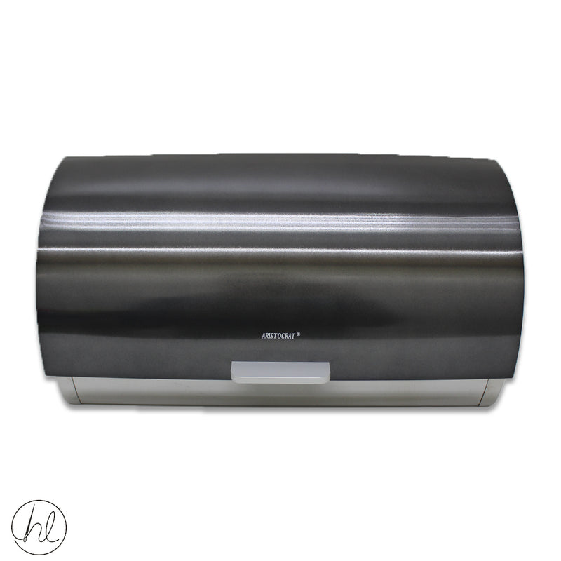 BLACK BREAD BIN ROLL TOP BB18